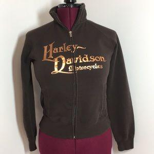 Harley Davidson zip up Ukiah dealer sweatshirt
